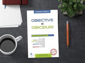 Carte Obiective si Obiceiuri realistic mockup